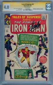 Tales Of Suspense #57 CGC 4.0 Signature Series Signed Stan Lee 1st Appearance Hawkeye Marvel comic
